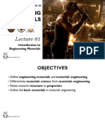 Lecture 1- Introduction to Engineering Materials