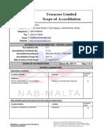 Terracore Accreditation Scope