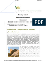 Reading Task Living on Campus