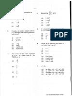 Unit 1 Pure Mathematics (2013) P1