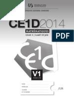 Evaluation Certificative - CE1D - Mathématiques - 2014 - Version Adaptée 1 - Questionnaires (Ressource 10775)