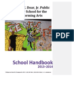 William E. Doar, Jr. Public Charter School for the Performing Arts - School Handbook 2013-2014
