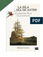 Umberto Eco--La Isla Del Dia Antes--1.0(1)