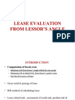Lease Evaluation From Lessor Angle