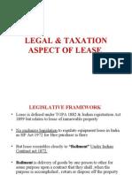Legal & Taxation Aspect of Lease
