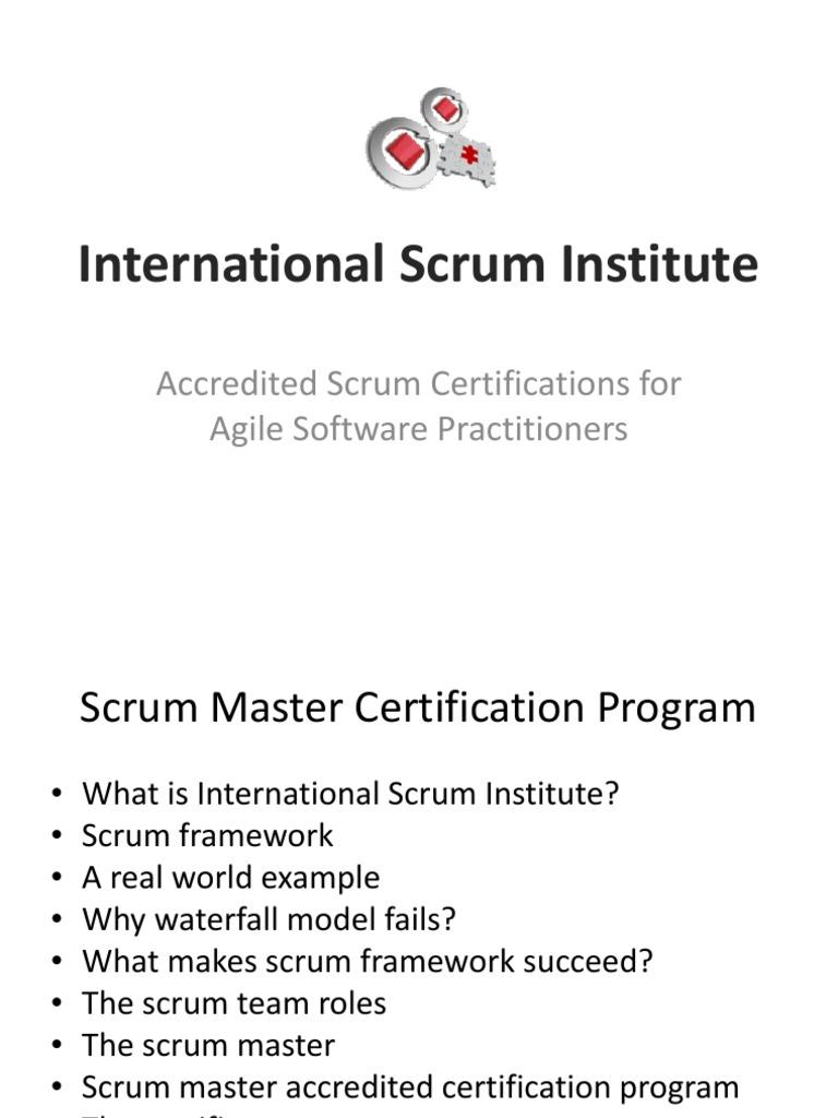 International Scrum Institute Scrum Software Development Agile