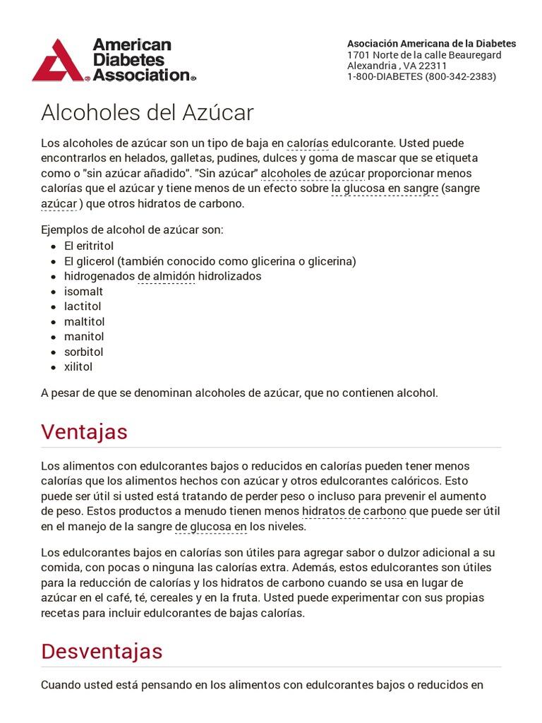 diabetes del hidrolizado de almidón hidrogenado