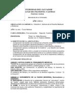 Programa Filosofía Medieval y Moderna 2014 - Pilar