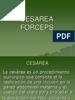 Cuidados de Enfermeria de Forceps y Cesarea