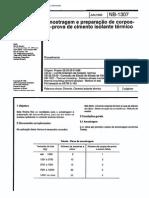 NBR 12245 NB 1307 - Amostragem e Preparacao de Corpos-De-prova de Cimento Isolante Termico