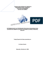 Determinacion de Propiedades Reologicas Para Lechadas de Cemento Elasticas
