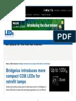 Bridgelux Introduces More Compact COB LEDs for Retrofit Lamps - LEDs