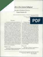 Vergara 2007 La filosofía en las ciencias biológicas