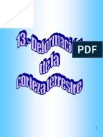 13.- Deformacion de La Corteza Terrestre