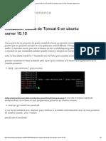 Instalacion Basica de Tomcat 6 en Ubuntu Server 10