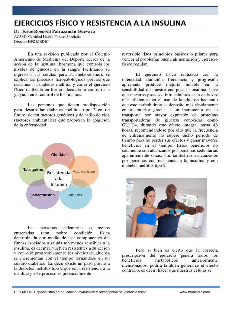 ejercicio físico para la diabetes mellitus tipo 1