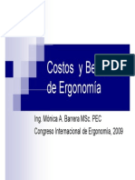 Costo Beneficio de La Ergonomia