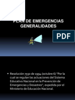 Conceptos de Un Plan de Emergencia