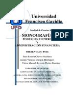 Monografía Poder Financiero y Administración Financiera