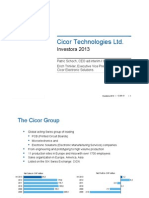 Investora Cicor Technologies Ltd 12092013