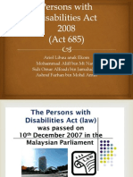 Persons With Disabilities Act PPT