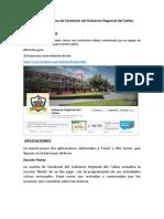 Análisis de Página de Facebook Del Gobierno Regional Del Callao