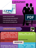 Slide HR Training and Development