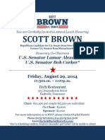 Scott Brown fundraiser