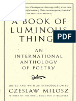Czeslaw Milosz a Book of Luminous Things- An International Anthology of Poetry 1998