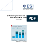 ESI Statistical Update - Balkan Asylum Seekers - 15 Feb 2013