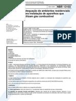 NBR 13103 de 1999 - Residências à Gás Combustível (1)