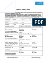 Appendix 11 - Contract Starting Sheet