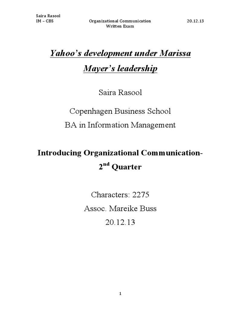 final ioc yahoo exam | Transformational Leadership | Yahoo!