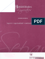 BARROSO 'Aspecto' e 'Aspectualidade'-Coordenadas Descritivas