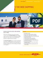 Dhl Web Shipping User Guide En