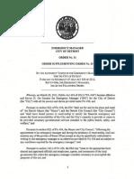Detroit EM - Order No 31 - Supplementing Order No 20