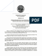 Detroit EM - Order No 28 - Implementing Wage Increases for Certain Non-Union City Employees