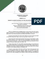Detroit EM - Order No 26 - Amend Chapter 47 of the 1984 Detroit City Code