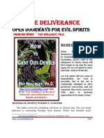 Miracle Deliverance Open Doorways for Evils Spirits