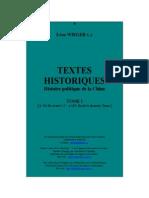 Wieger - Textes Historiques - Histoire Politique de La Chine - Tomo II