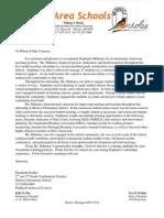 letter of rec findlay
