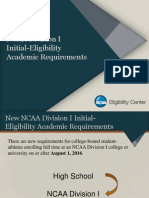 ncaa initial eligibility academic requirements