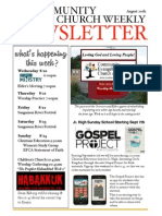 Aug 20 2014 Newsletter