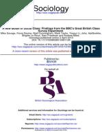 A New Model of Social Class