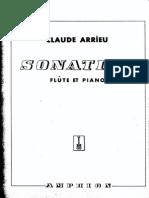 Arrieu Flute Sonatine FL and PNO Part