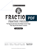 Fractions Puzzle Sheets