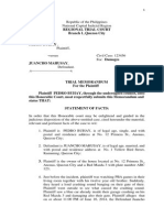 Trial Memorandum