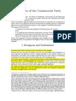 Marx and Engels_Communist Manifesto_Excerpts