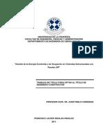 Estudio de La Energía Contenida y de Ocupación en Viviendas Estructuradas Con Paneles SIP.