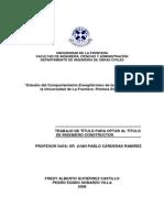 Estudio Del Comportamiento Energitermico de Los Edificios de La Universidad de La Fronteraprimera Etapa